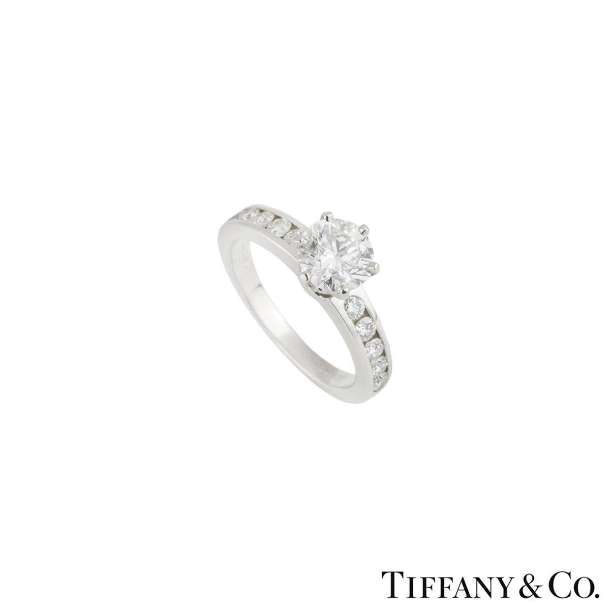 The Tiffany Setting with Diamond Band 1.06ct G/VS1 XXX